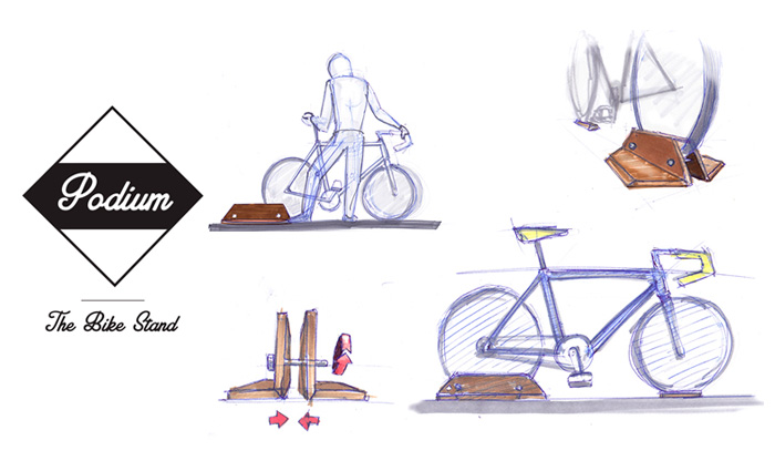 Podium: bike stand for the house